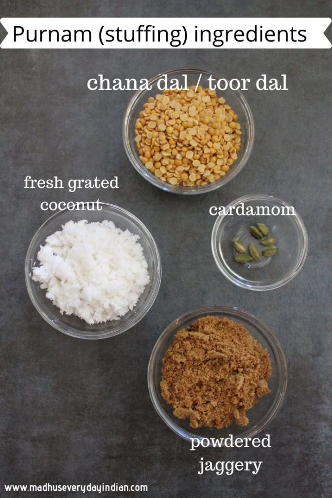 purnam stuffing ingredients for bobbatlu