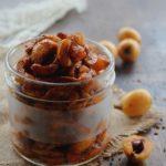 dinstant loquat pickle stored in a glass jar