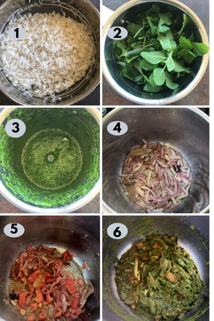 making palak biryani in the instant pot