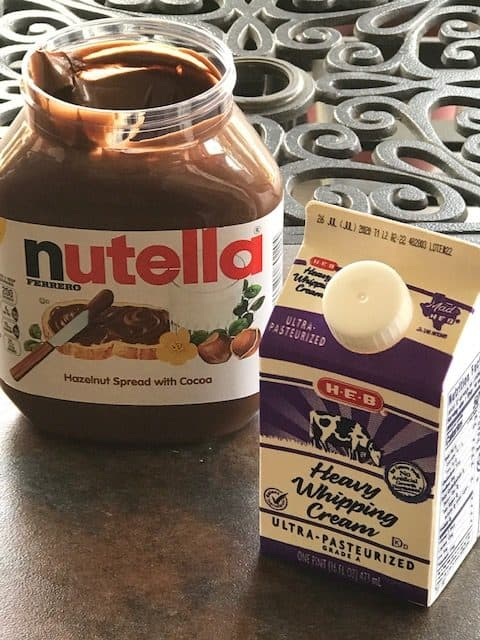 nutella and whipping cream