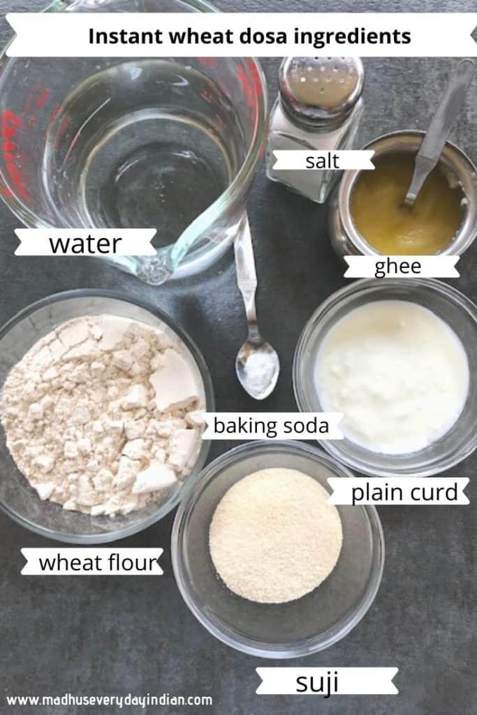 wheat flour dosa ingredients