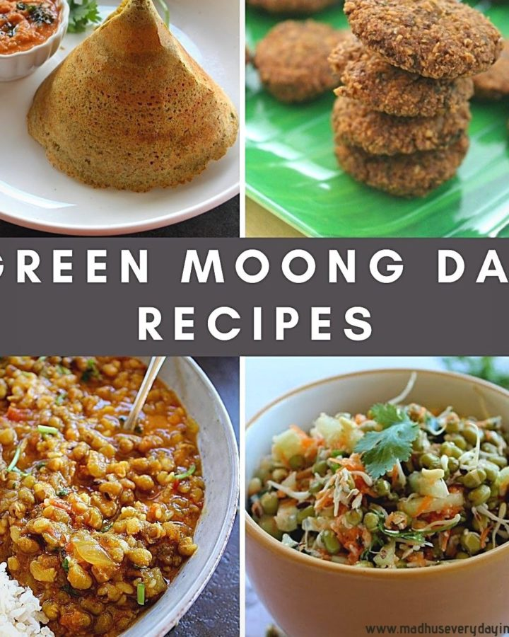 collection of green moong dal recipes