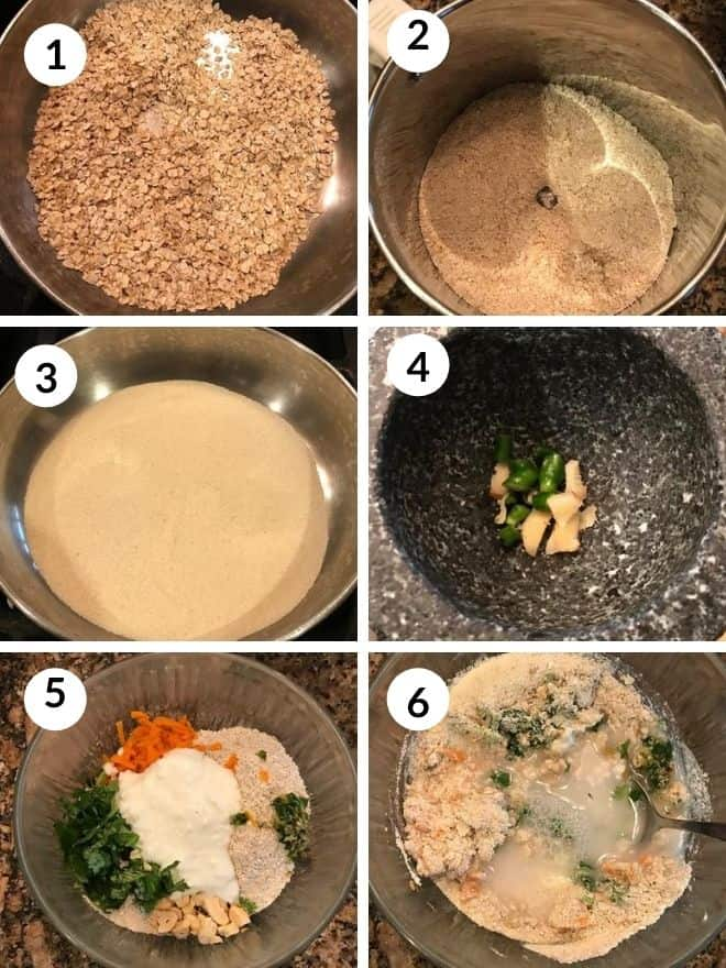making oats idli recip with step by step pics