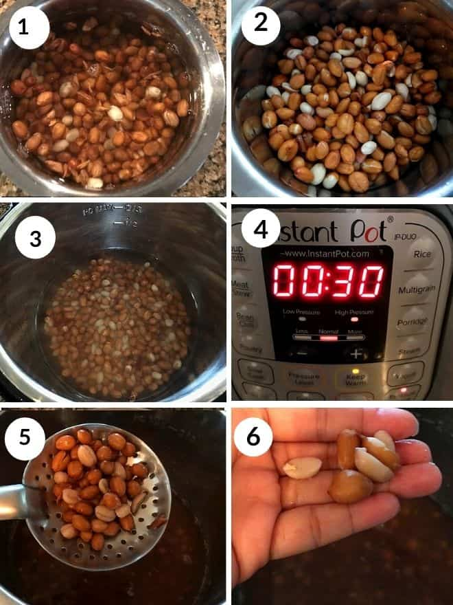 saoked peanuts cooked in the instant pot for 30 minutes