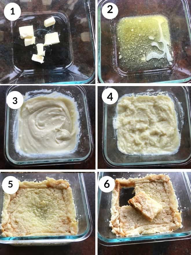 butter melted and cooked with ricotta cheese, sugar and milk powder to make milk cake