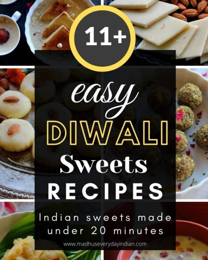 6 images of the collection of easy diwali sweets
