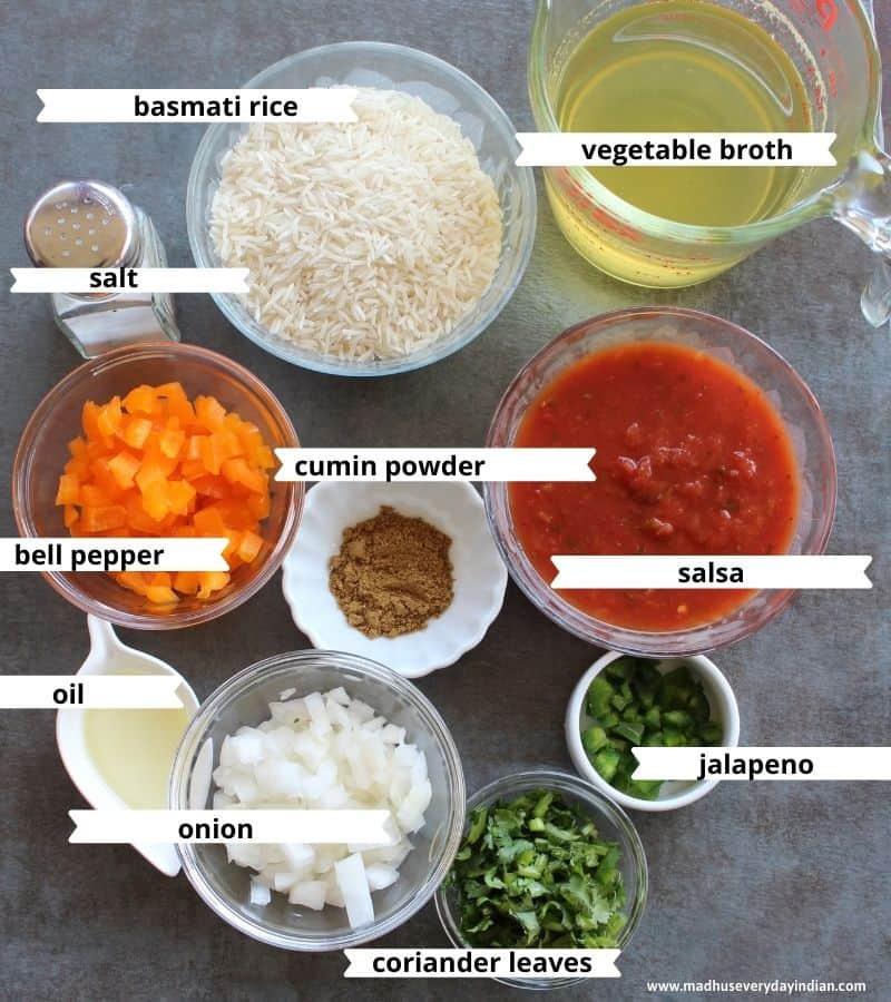 ingredeints needed to make spanish rice