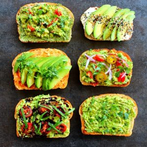 picture of 6 ways to serve avocado toast