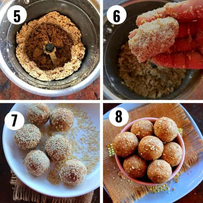 ground sesame and jaggery made to round balls