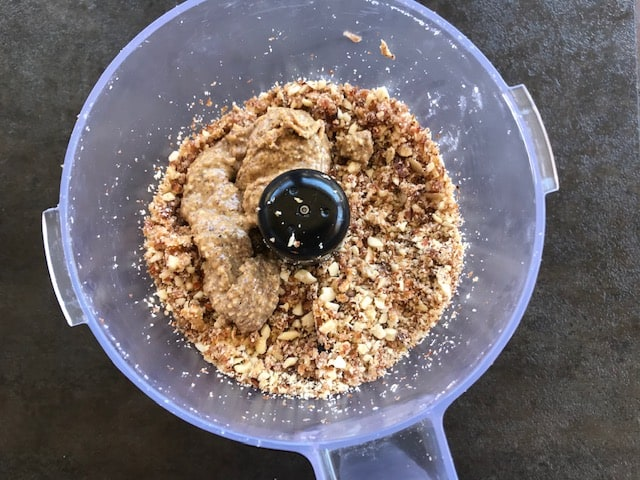 almond butter added to the nut mixture