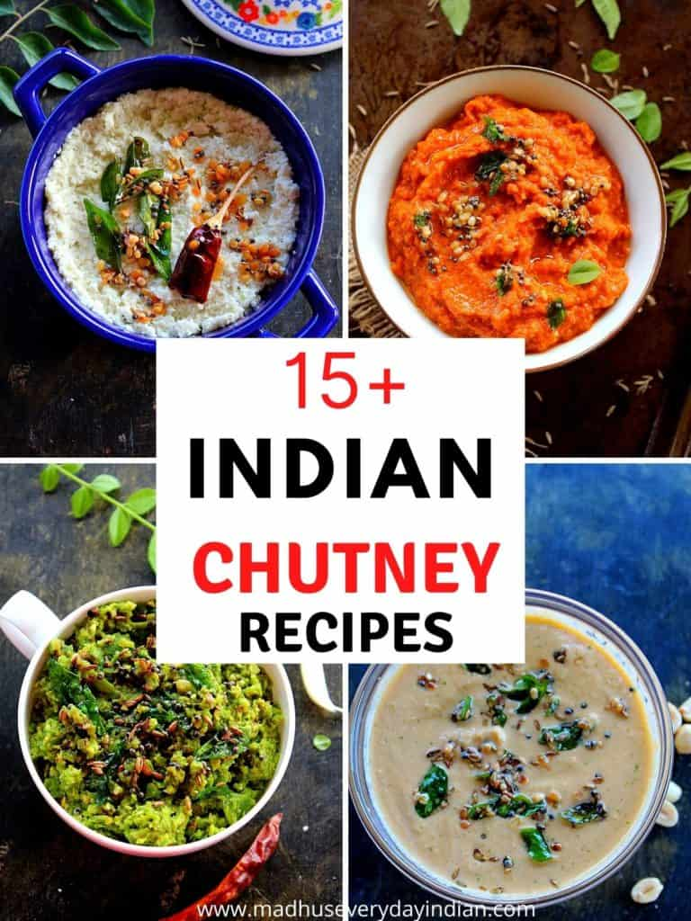 4 pics of 15+ indian chutney recipes