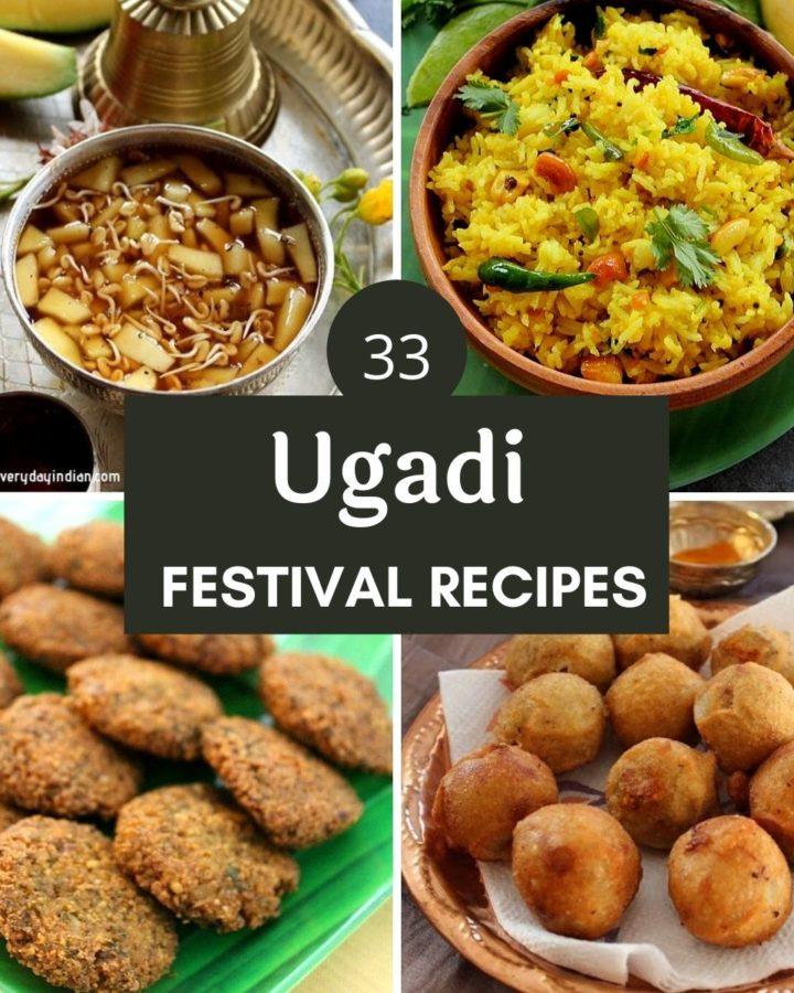 collage of ugadi festival recipes