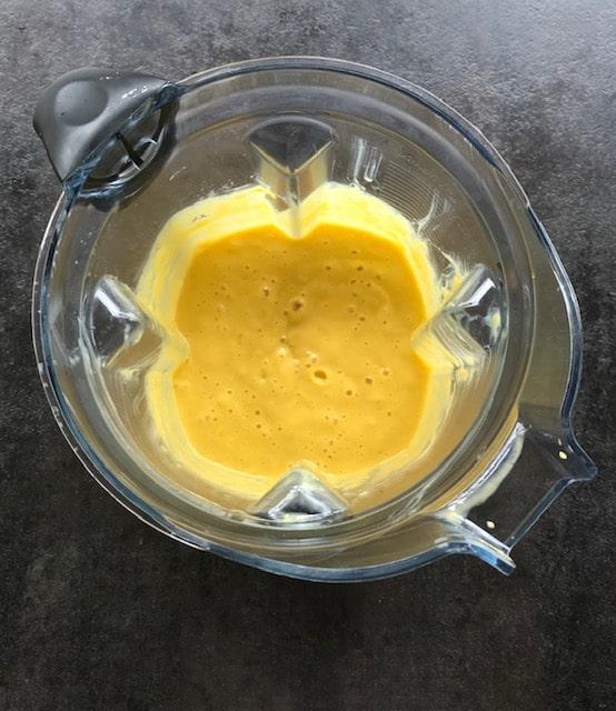 blend mango lassi in a viatmix.