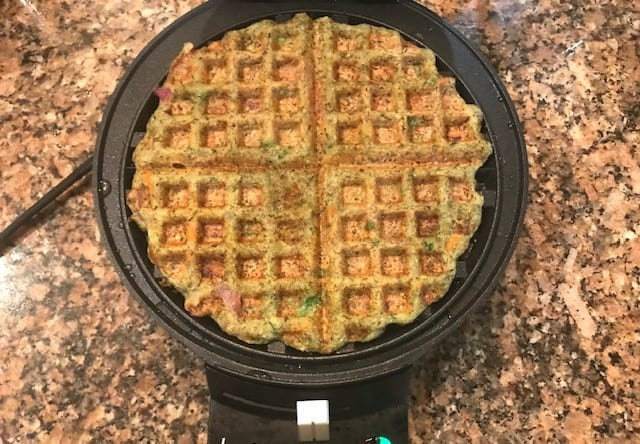 moong dal waffle made in the waffle maker