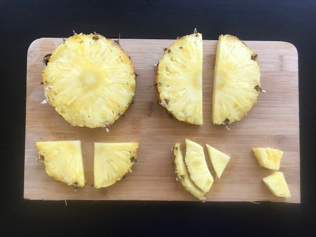 pic to show how to cut pineapple