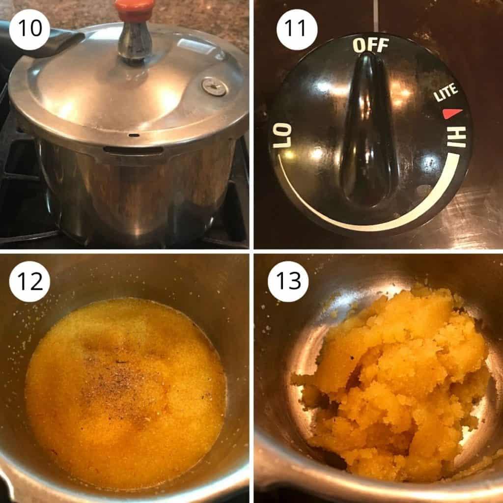 kesari bath cooked in the pressure cooker