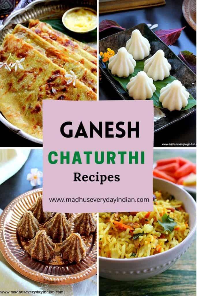 collage of vinayaka chaturthi recipes
