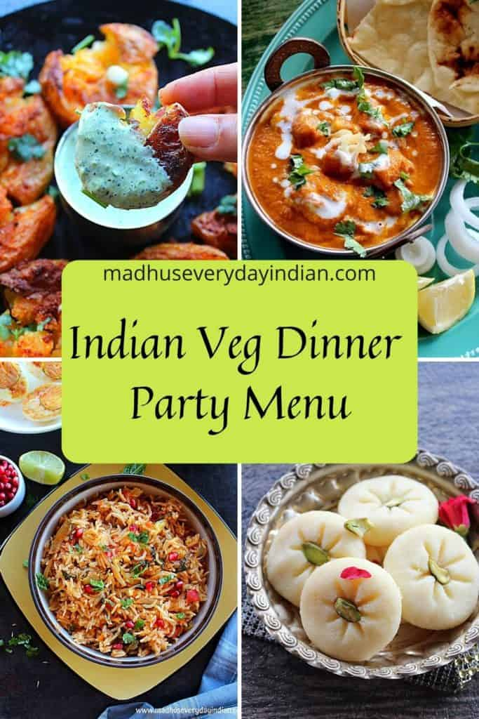 collage of 4 pics of indian veg recipes