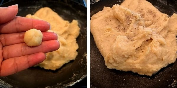 ricotat cheese burfi made to soft ball