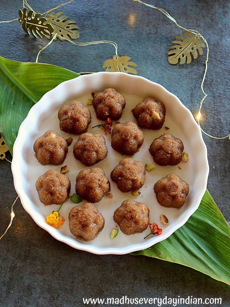 sooji halwa served in small bites