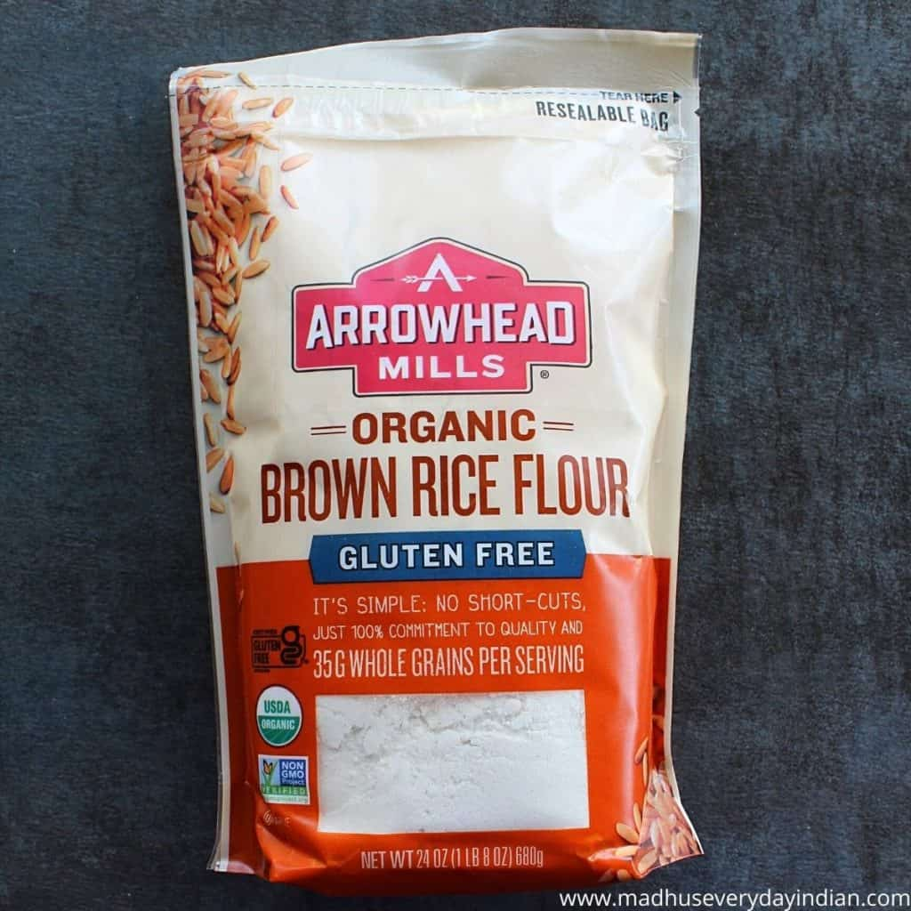 picture of the brown rice flour packet by arrow head mills