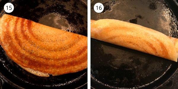 crispy dosa pics in the pan